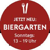 Biergarten - Sonntags 13 - 19 Uhr