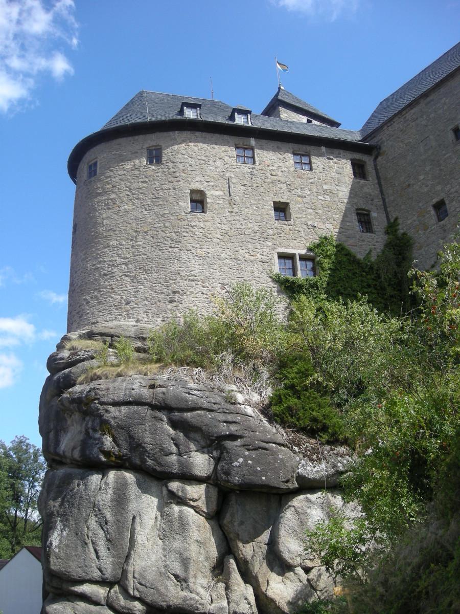 Die Burg Falkenberg am Tag des Besitzübergangs am 29.08.09 (Foto: Markt Falkenberg)