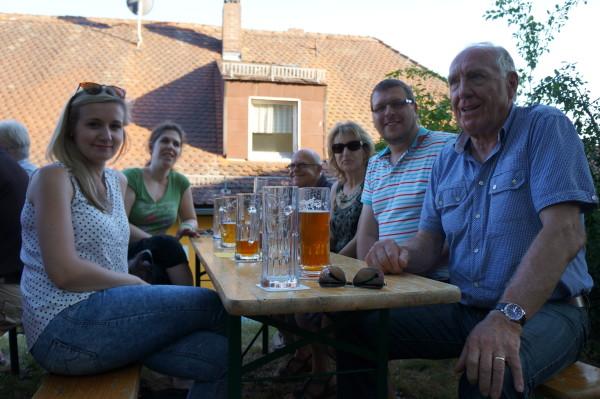Im Sommer gibt's den Zoigl in Falkenberg im Garten (Foto: CeBB)