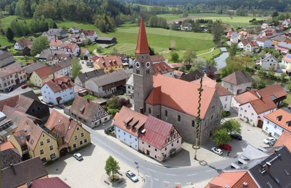 Ansicht auf den Markt Falkenberg