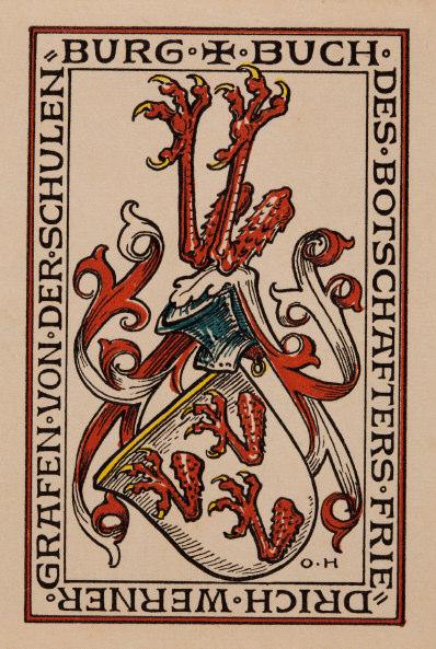Wappen der Grafen von der Schulenburg (Reprofoto aus Doku FWS, Dr. Helm)