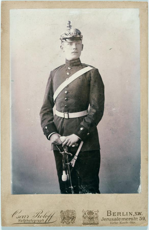 FWS als Soldat (Reprofoto Doku FWS, Dr. Helm)