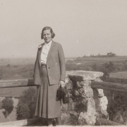 Alwine von Duberg in Falkenberg, 1933
