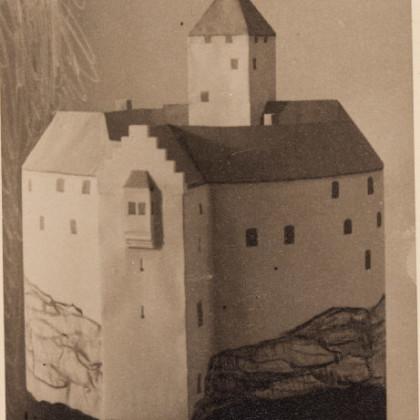 Modell der Burg Falkenberg