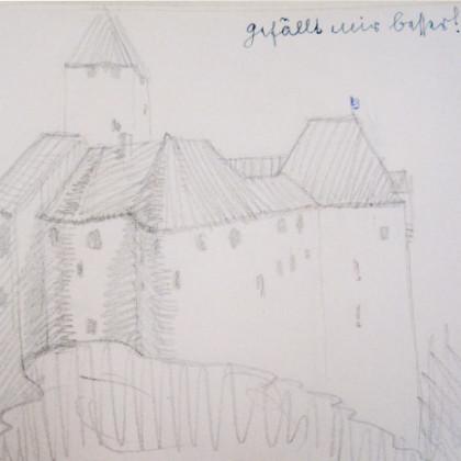 Skizze der Burg Falkenberg