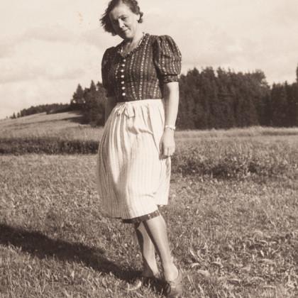Alla von Duberg in Falkenberg, 1940