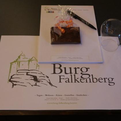 Tagen auf der Burg Falkenberg in der Oberpfalz