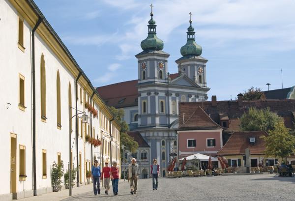 Klosterstadt Waldsassen mit der Stiftsbasilika (Foto: Tourismuszentrum Oberpfälzer Wald - Lkr. TIR) )