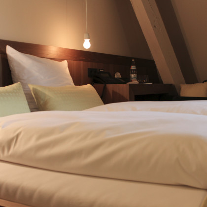 Doppelzimmer Sandmühle - Erholsam urlauben auf der Burg Falkenberg in Bayern